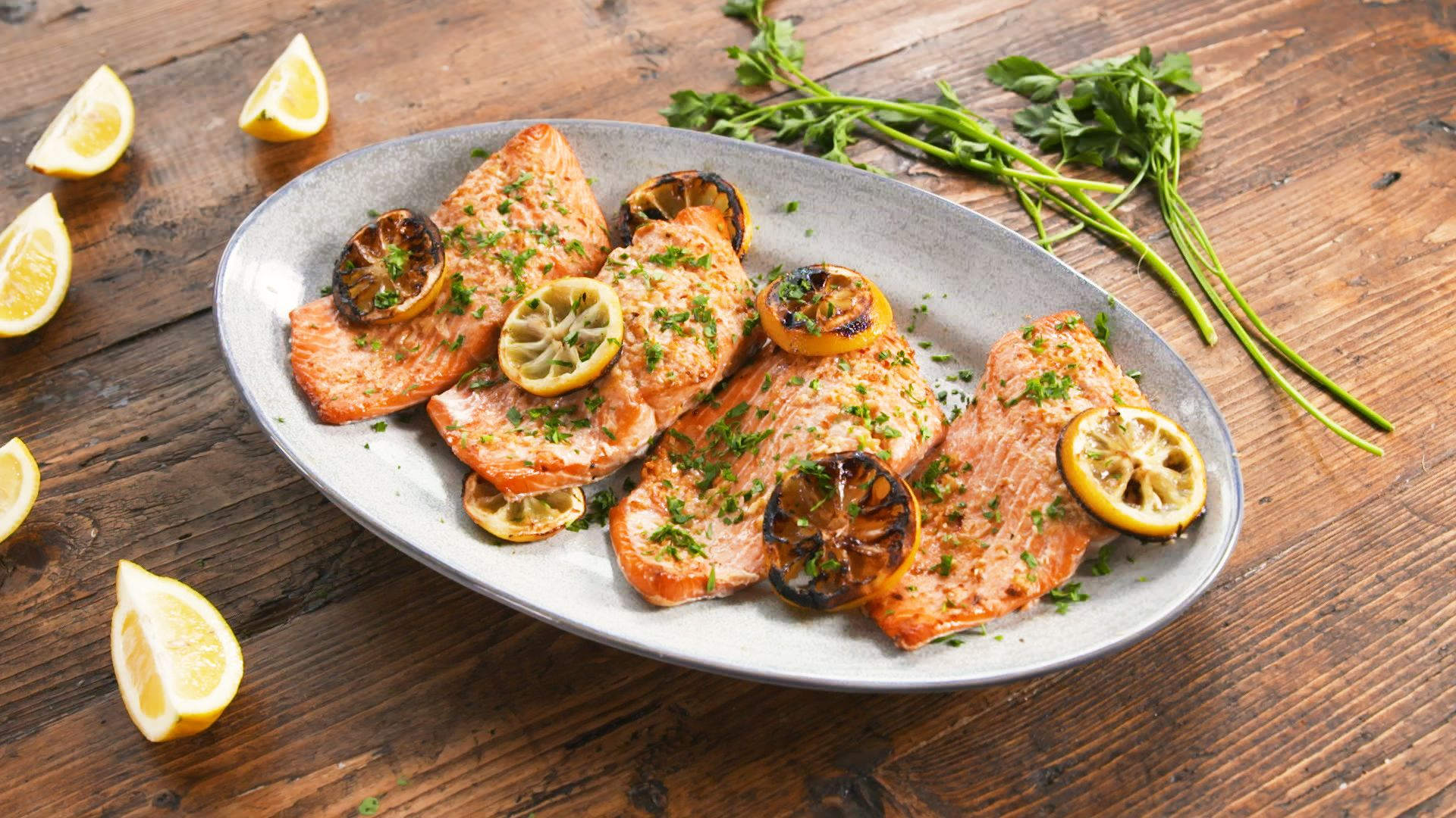 Best Grilled Lemon Butter Salmon Recipe How To Make Grilled Lemon