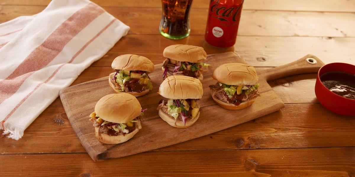 Hawaiian Coke Zero Sugar Pulled Pork Sandwiches