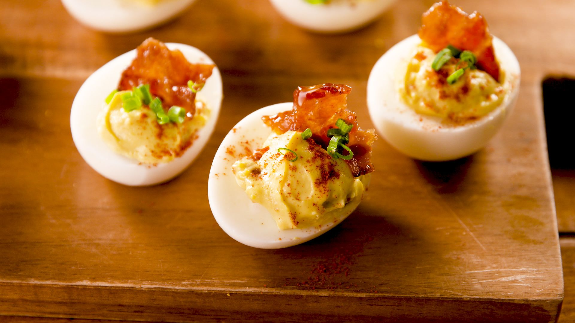 Best Deviled Eggs With Bacon Recipe How To Make Deviled Eggs With Maplebacon
