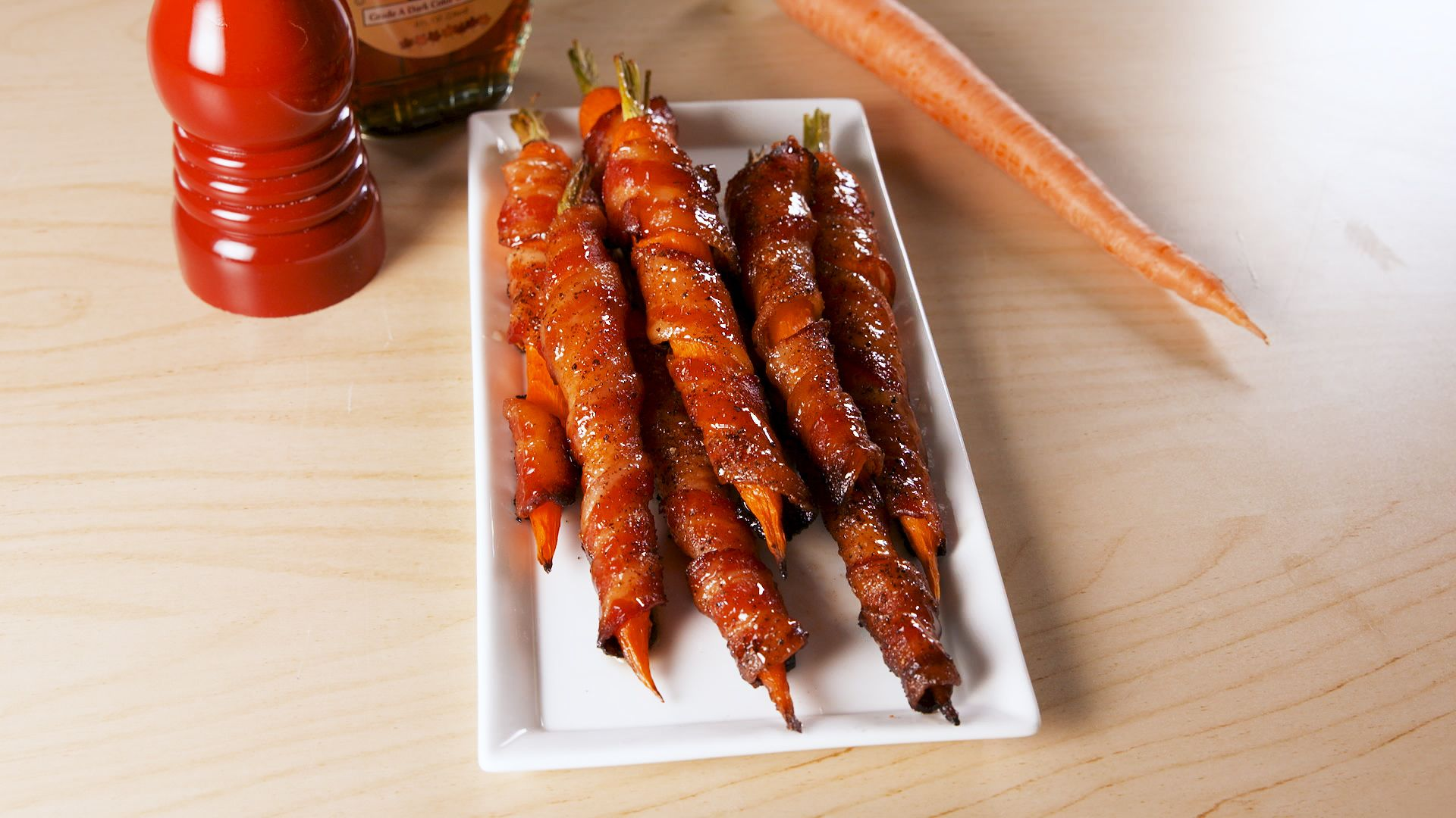 Best Maple Bacon Carrots Recipe How To Make Maple Bacon Wrapped
