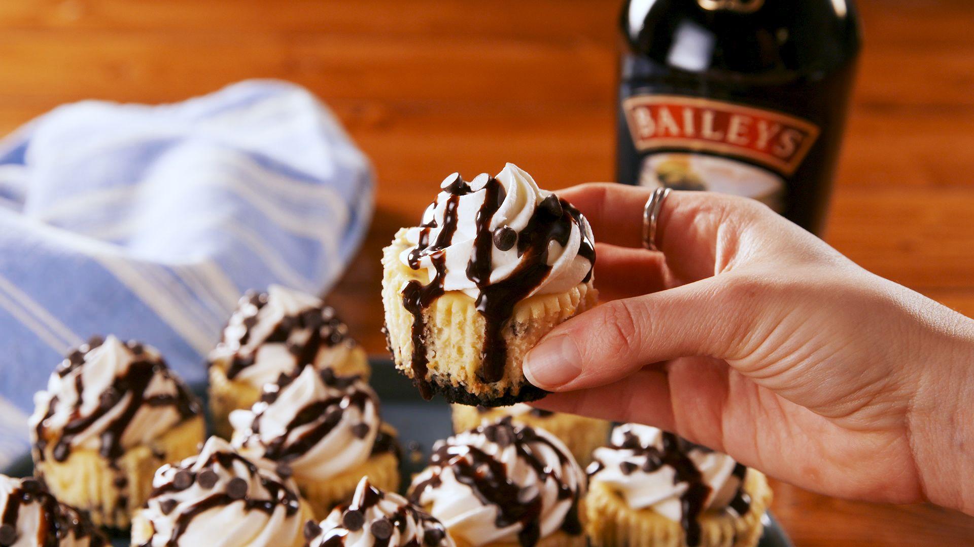 Mini Baileys Cheesecakes