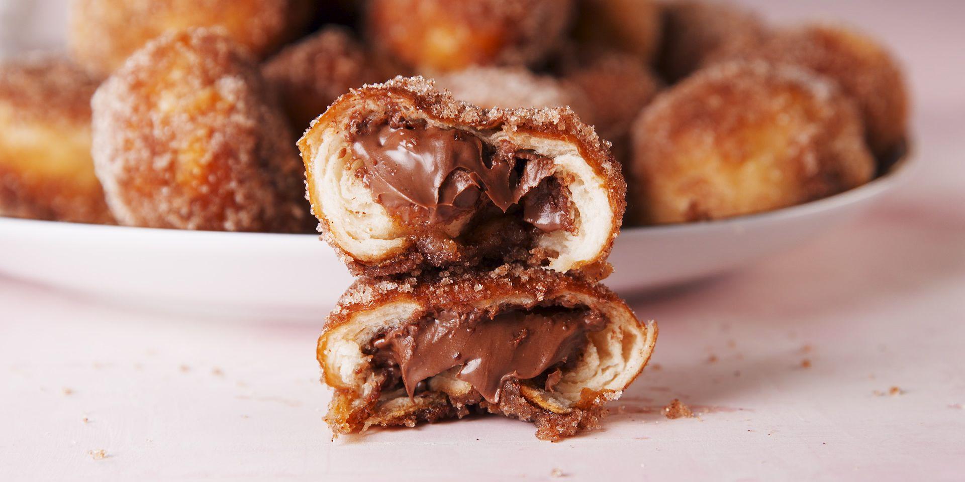Nutella Stuffed Pretzel Bites - Delish.com