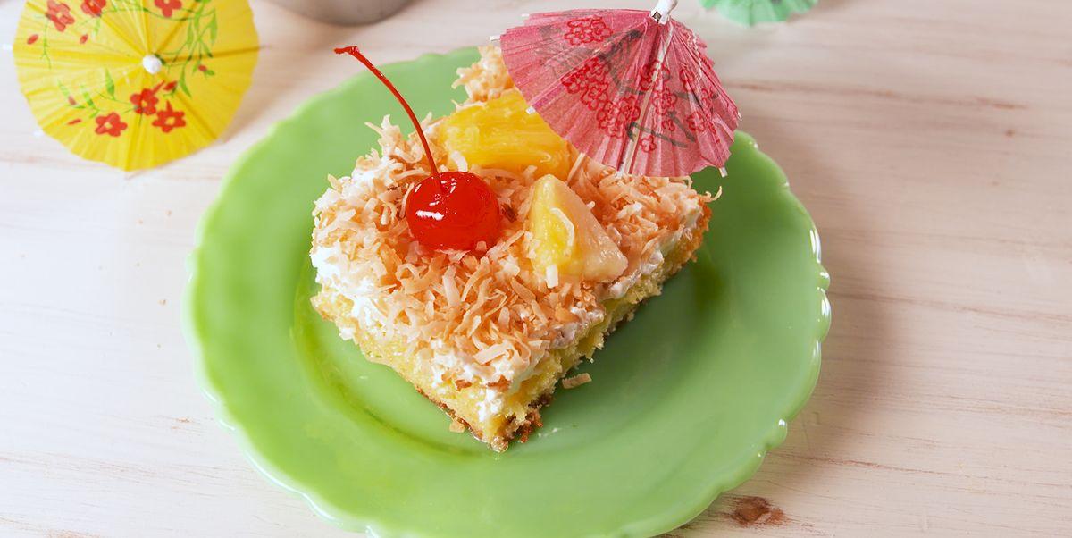 Make Pina Colada Poke Cake