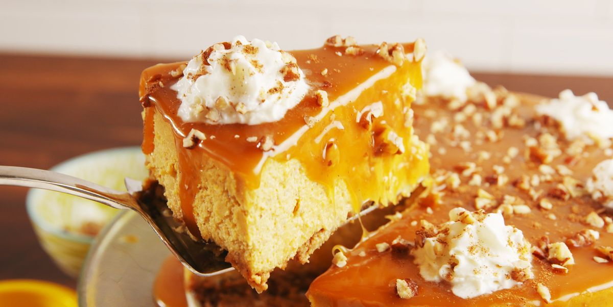 Pumpkin Cheesecake Recipe Double Layer Pumpkin Cheesecake
