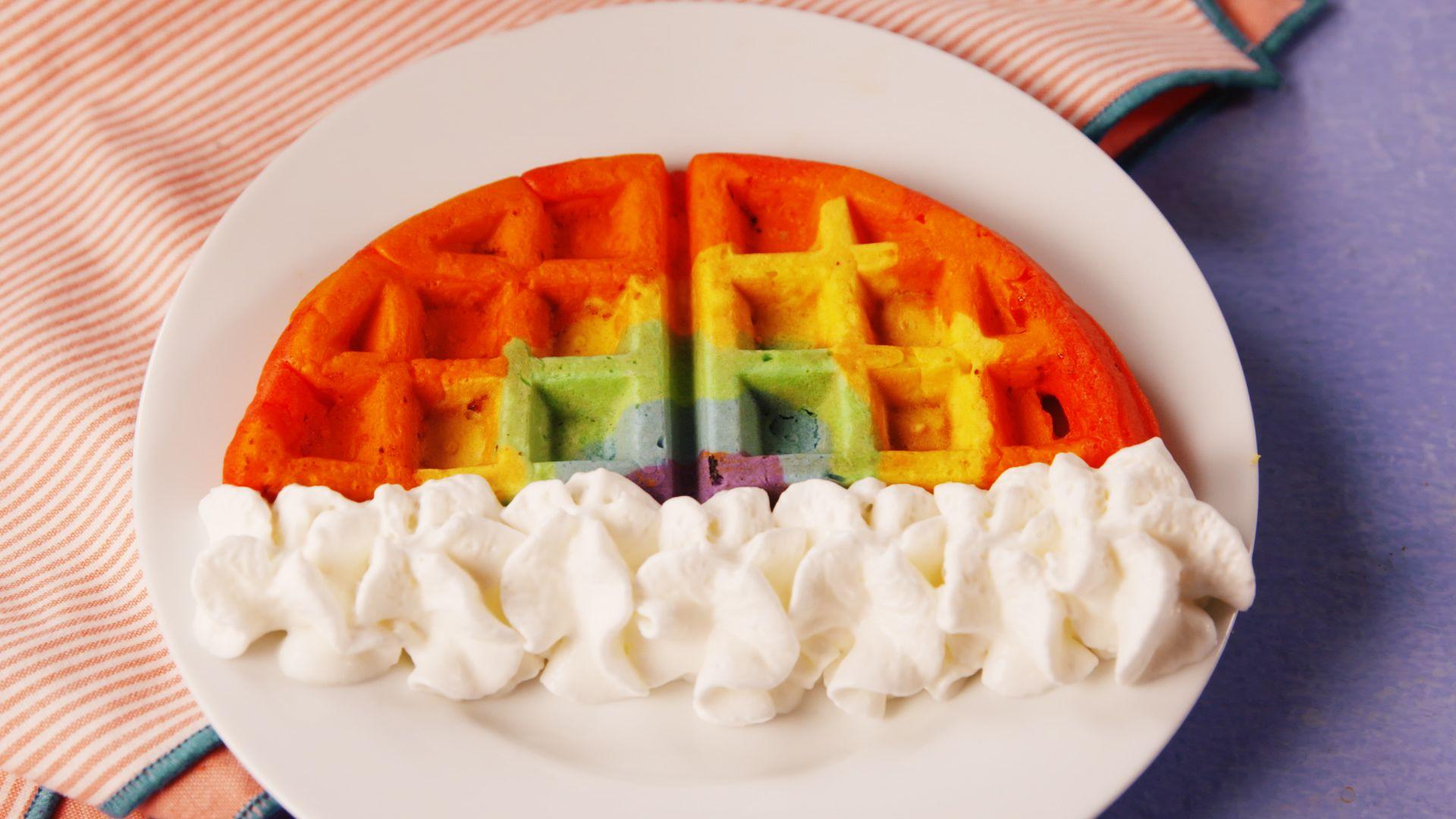 best rainbow waffle recipe how to make rainbow waffles
