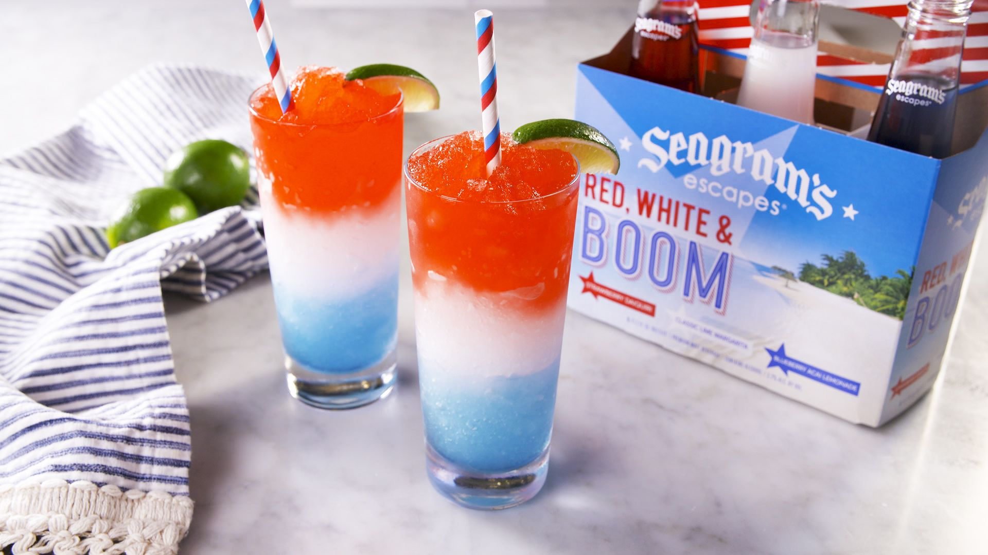 Red White & Blue Margaritas