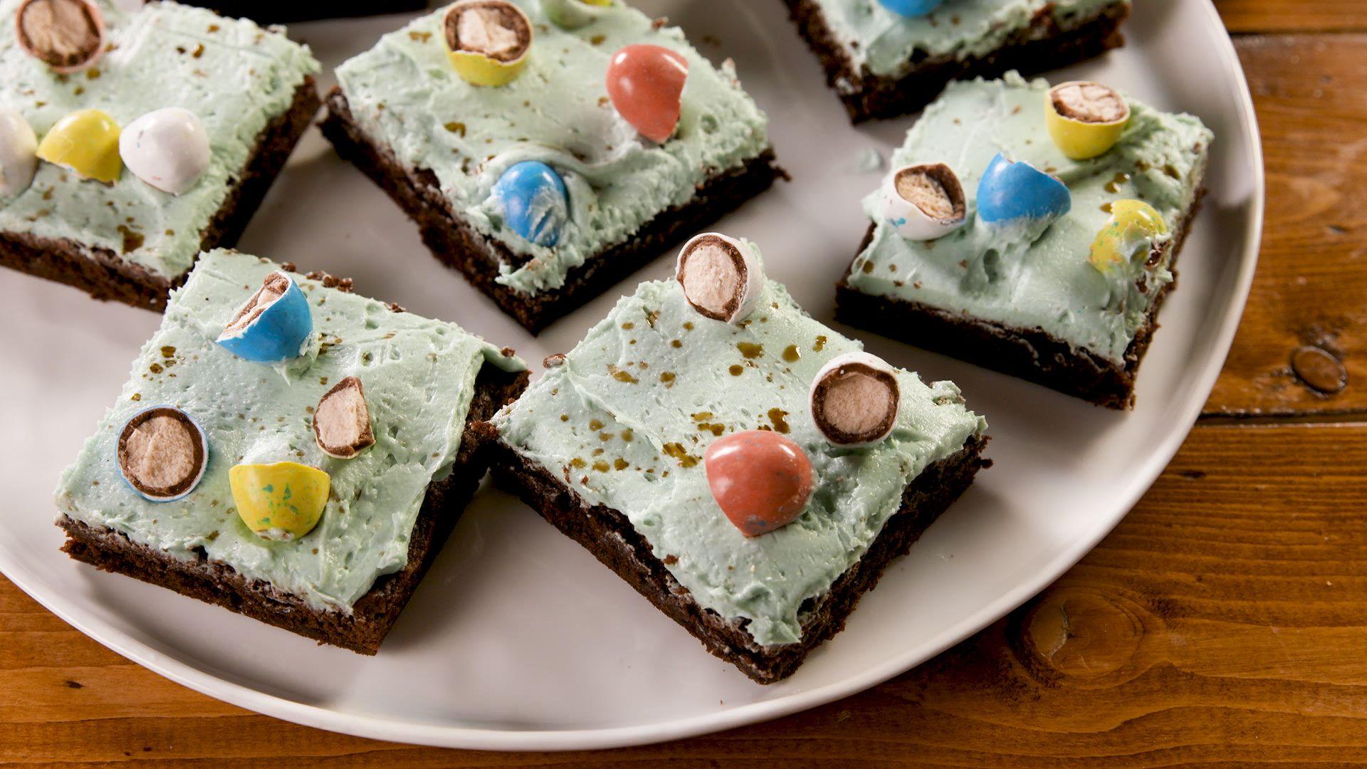 Robin Egg Brownies