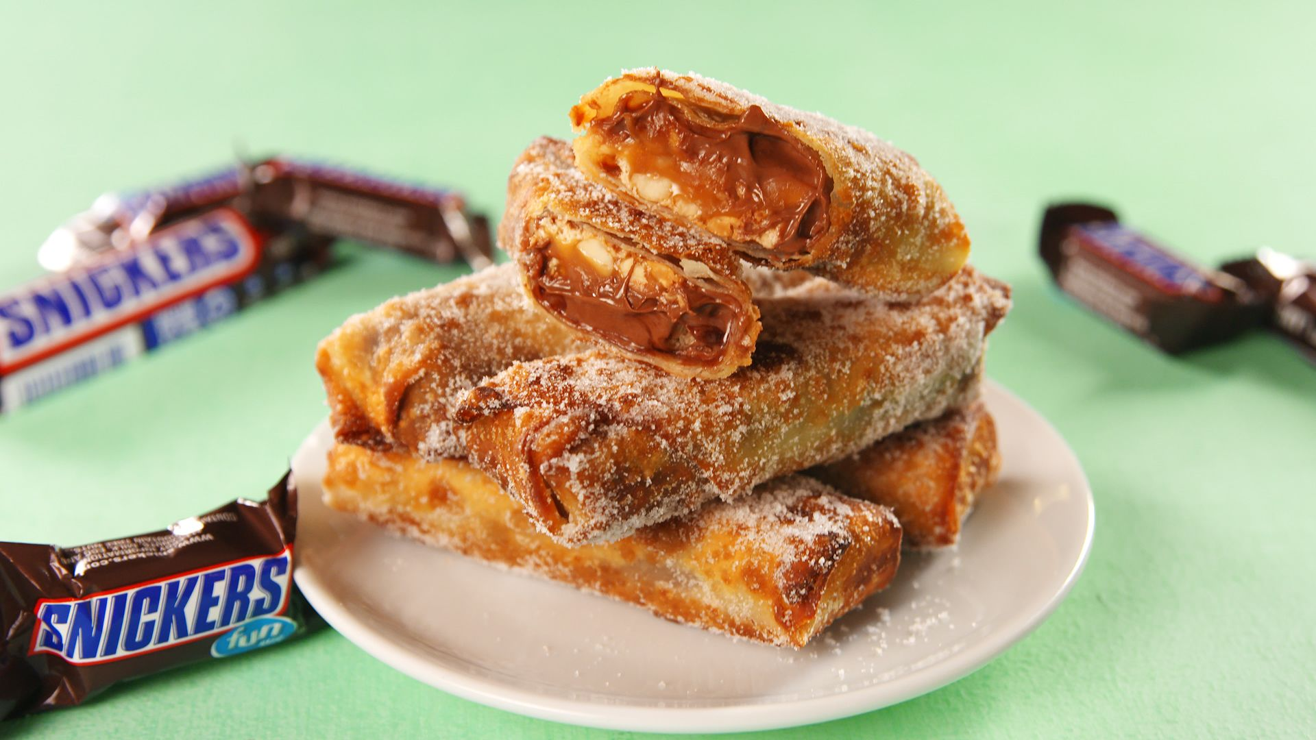 best snickers egg rolls recipe how to make snickers egg rolls