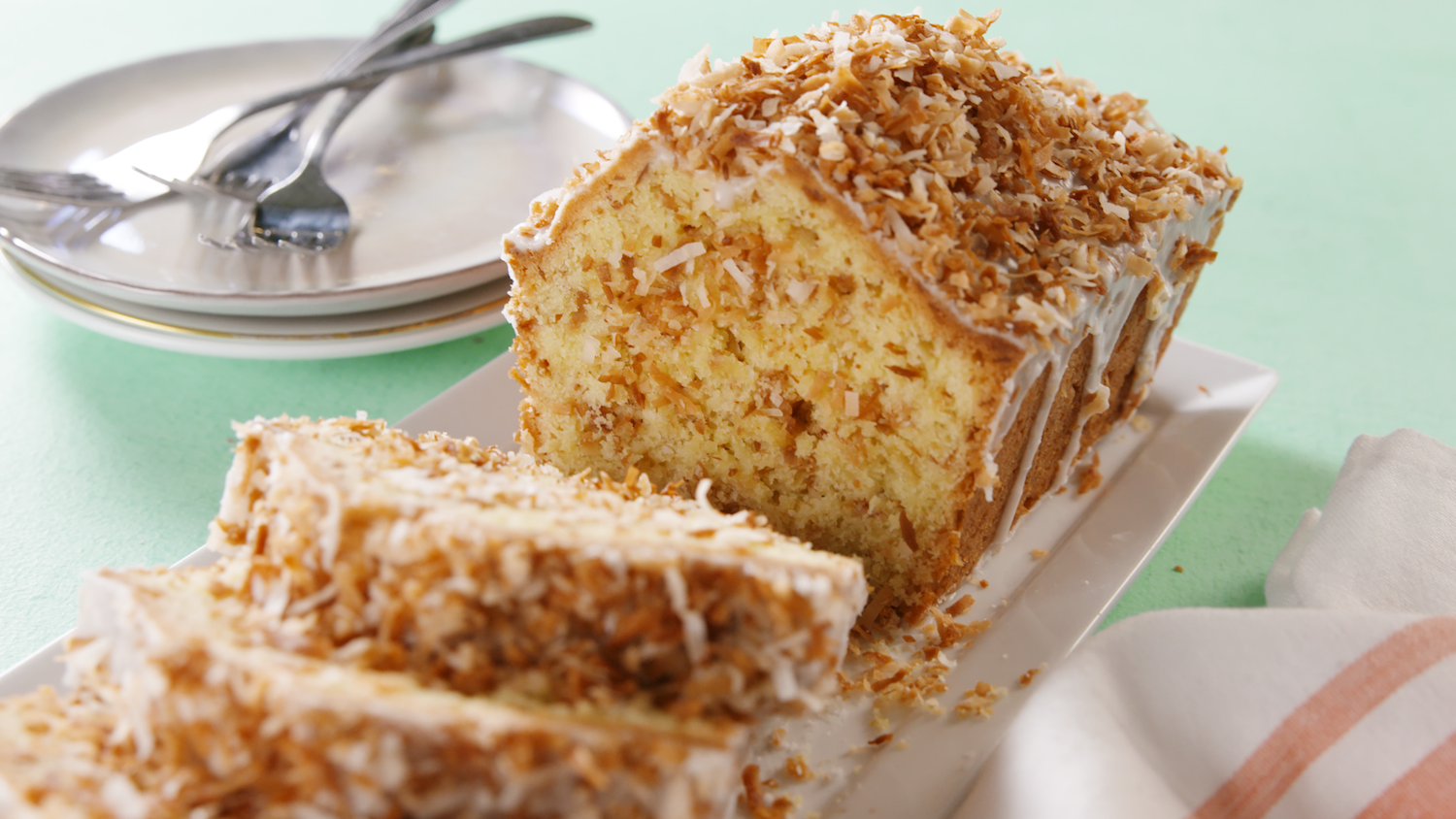 Best Toasted Coconut Pound Cake Recipe - How to Make Toasted ...