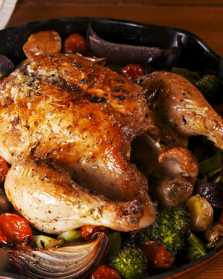 25 Easy Healthy Dinner Recipes - Tuscan Butter Roast Chicken