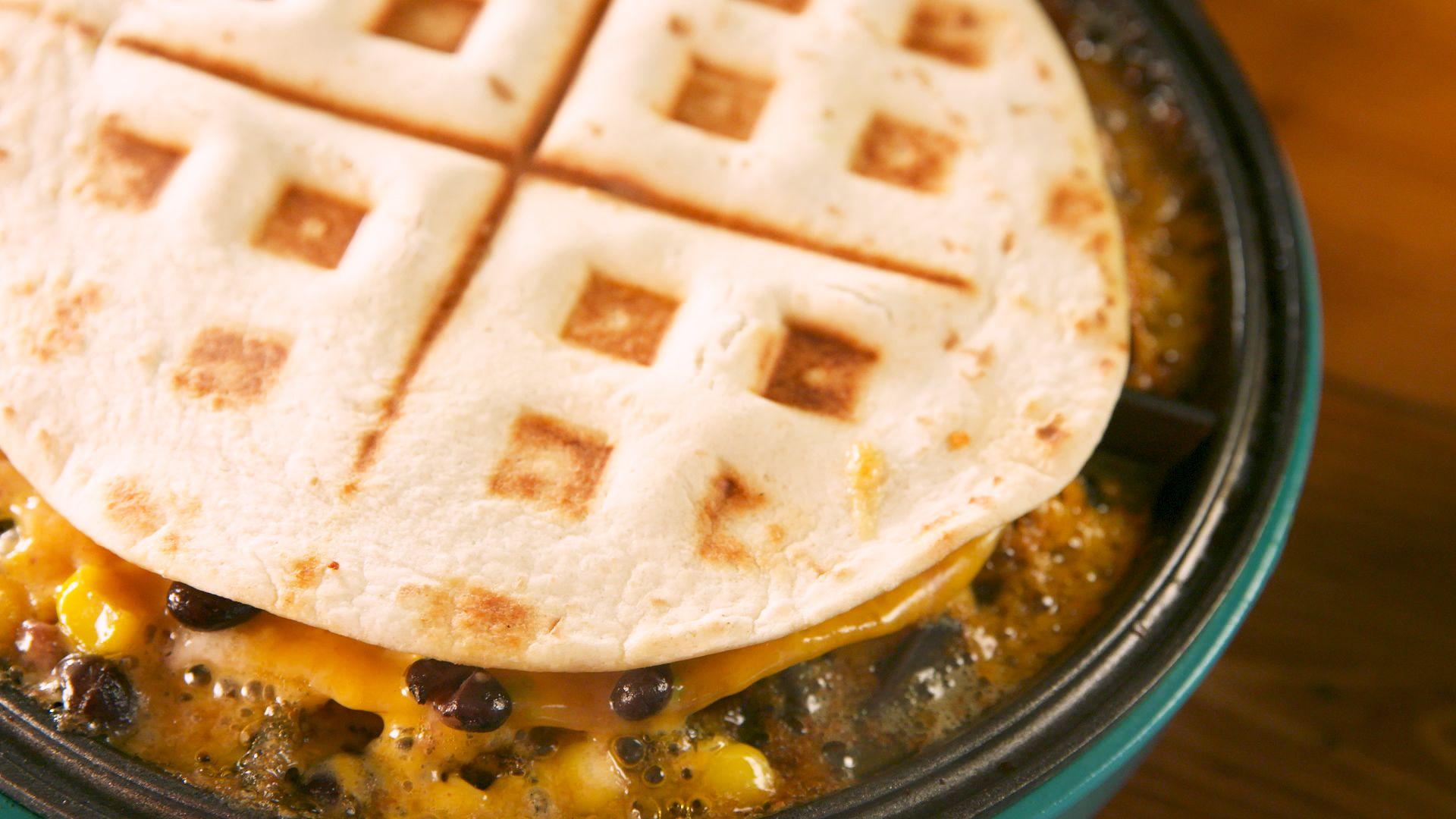Waffled Quesadillas