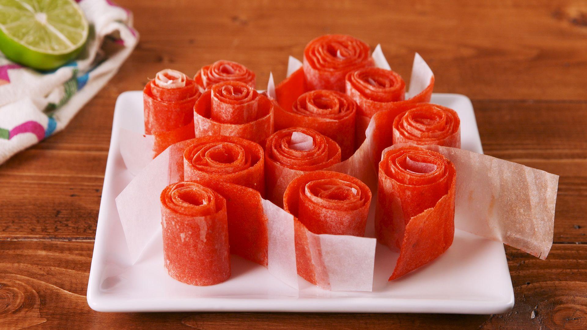 Watermelon Fruit Roll-Ups