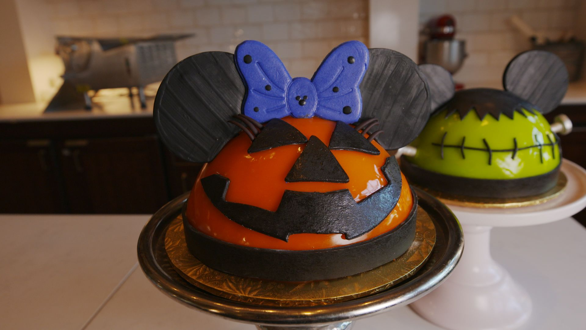 Disney Is Selling Huge Pumpkin Minnie And Frankenstein Mickey Cakes For Halloween