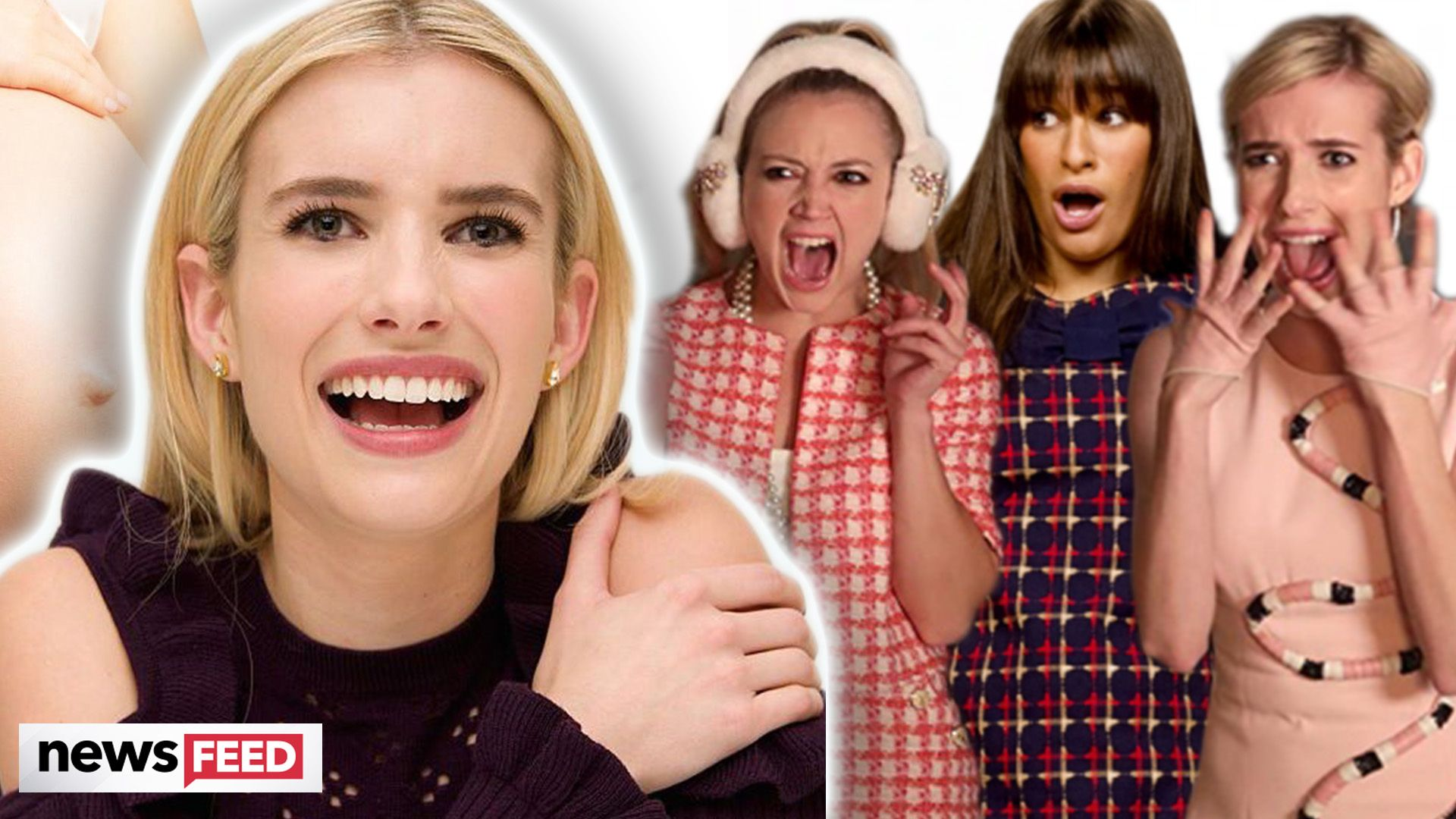 """Emma Roberts Jokes That Being Pregnant at the Same Time As Lea Michele and Billie Lourd Is """"Pure Witchcraft"""""""