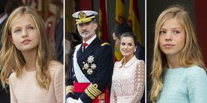 Familia Real Española, Letizia Ortiz, felipe VI, Los reyes de españa, Leonor y Sofía, Infanta Sofía, Princesa de Asturias