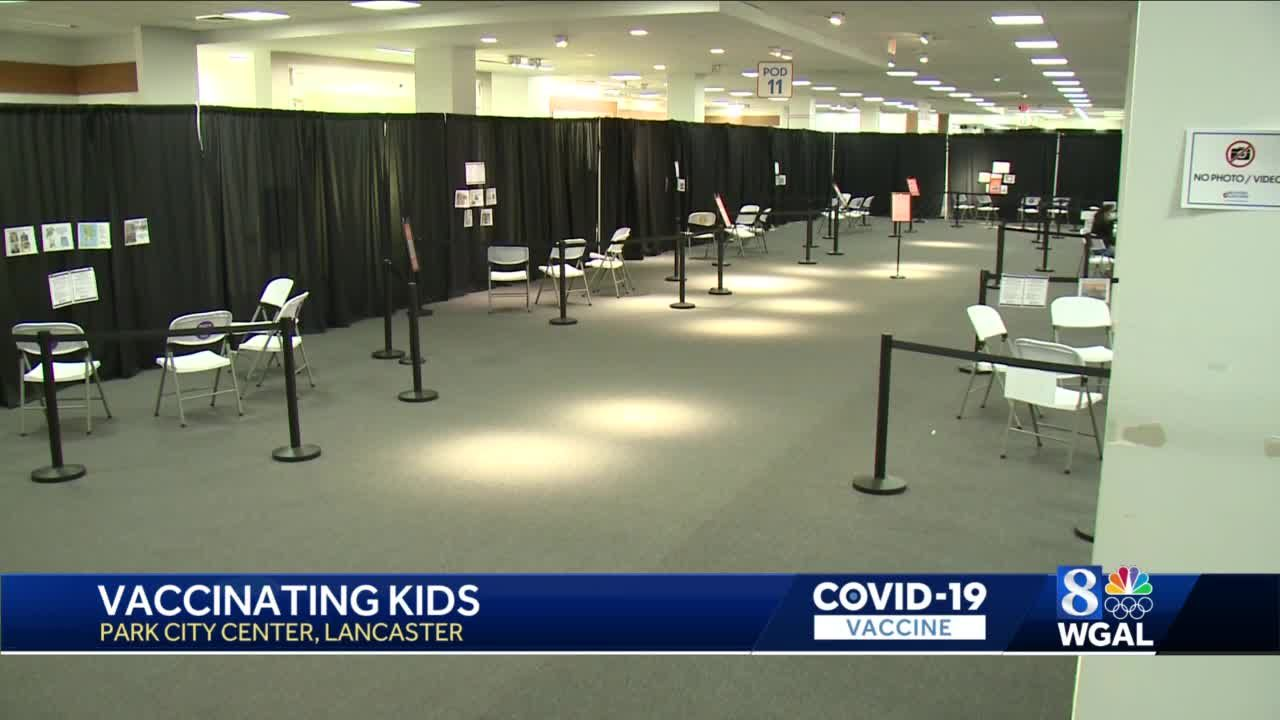 Lancaster County vaccination site ready to begin vaccinating kids ages 12-15