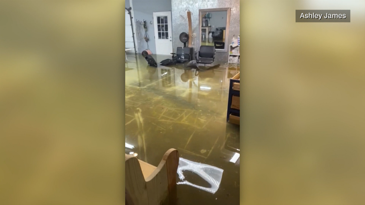 Claudette: Flooded home leaves Louisiana in disbelief