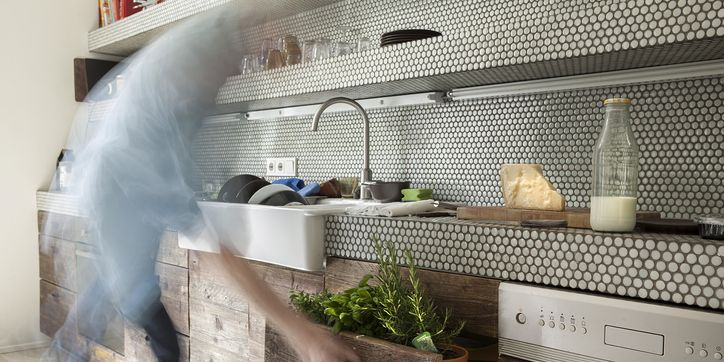 How To Freshen Up Your Kitchen With A Peel And Stick Tile Backsplash