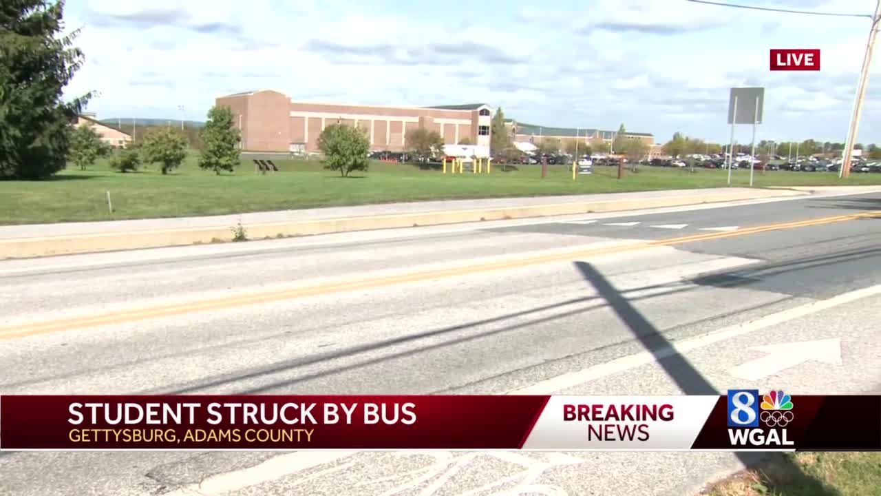High school student hit by school bus in Gettysburg