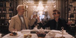 David Tennant and Michael Sheen in Good Omens trailer.