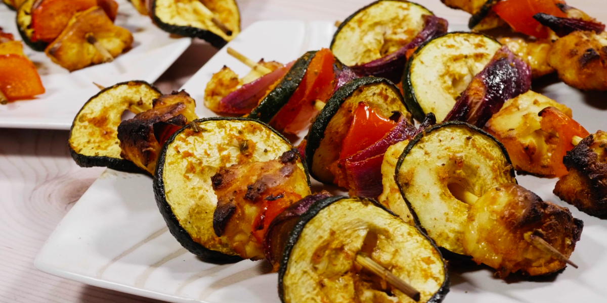 Halloumi Kebabs