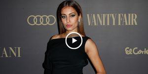 Hiba Abouk, actriz, famosa embarazada, Fiesta Vanoty Fair, el futbolista Achraf Hakimi