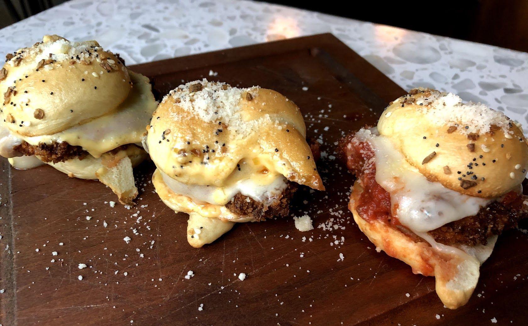 We're Only Eating These Garlic Knot Chicken Parm Sliders From Now On