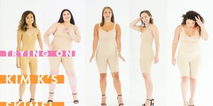 Actual People Try On Kim K's Skims