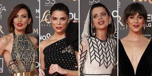 Nieves Álvarez, Juana Acosta, Macarena Gómez, Belén Cuesta, Los Goya 2019, Las mejor vestidas, Rosalía