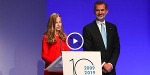 Princesa de Asturias, princesa de Girona, discurso Leonor, Leonor habla catalán, familia real, Rey Felipi VI, Letizia Ortiz