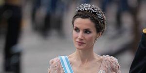 La reina Letizia en la boda de boda de Victoria y Daniel de Suecia