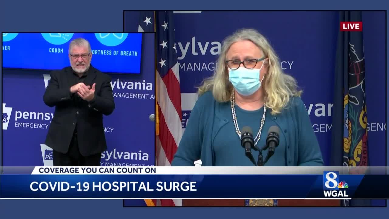 Pennsylvania Health Secretary Dr. Rachel Levine concerned about rising hospitalization rates