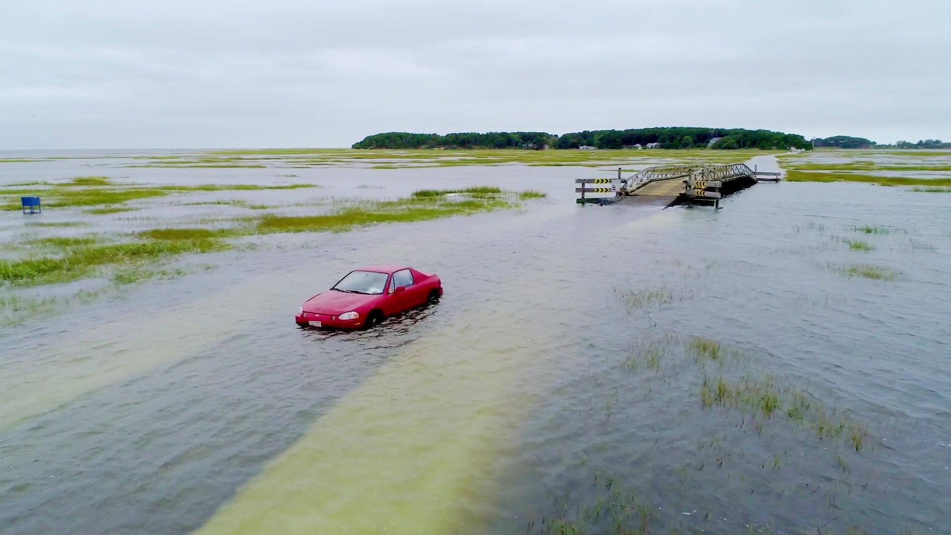 Rescues made after vehicle swallowed by high tide on Cape Cod