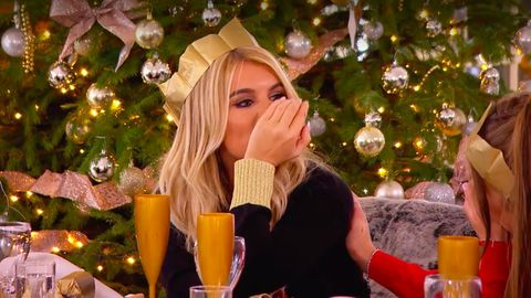 A Christmas Reunion.Love Island S Hayley Hughes Makes A Spectacular Slip Up In