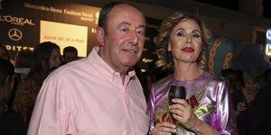 Luis Miguel Rodríguez y Ágatha Ruiz de la Prada, desfile Ágatha, Mercedes fashion week de Madrid