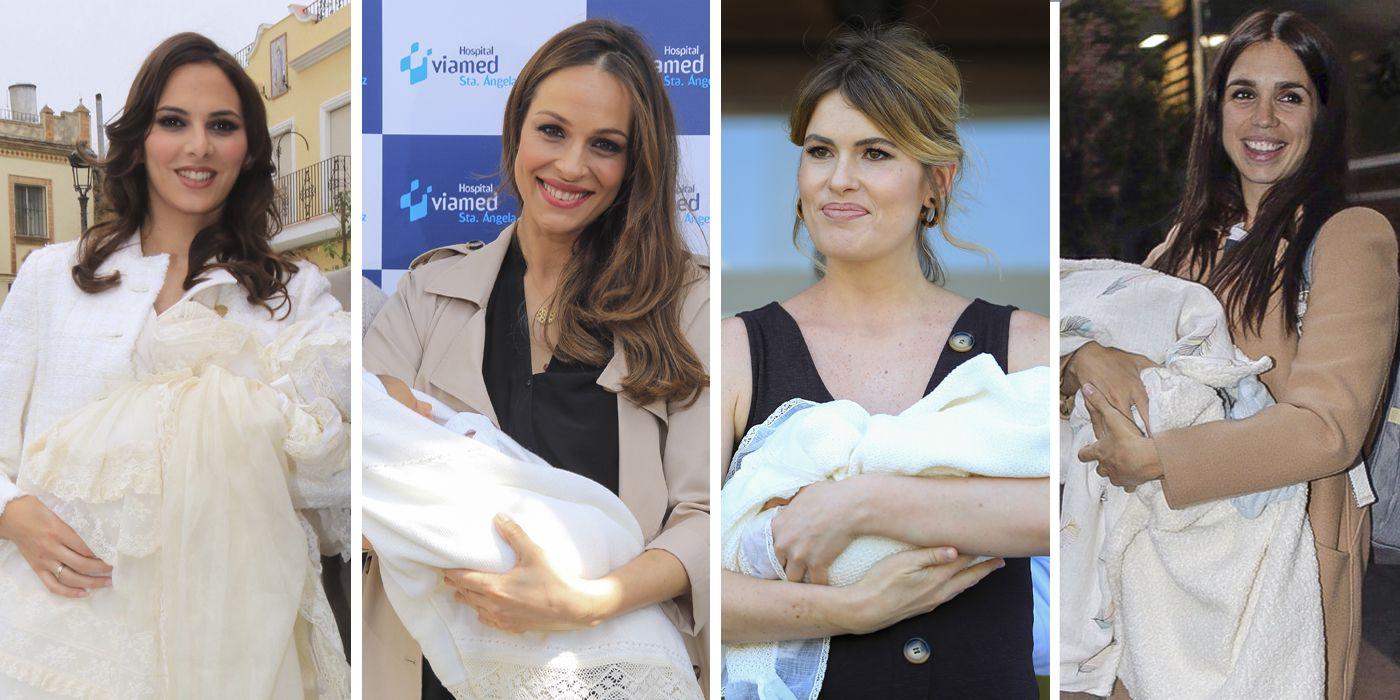Fueron madres en 2018, Irene Rosales, Adriana Abenia, Eva González, Elena González Furiase