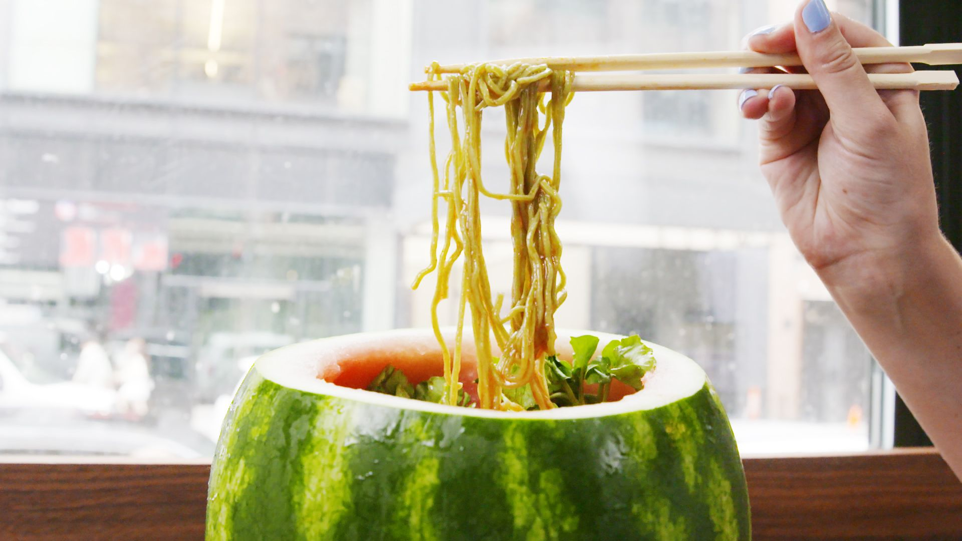This Watermelon Bowl Is Stuffed To The Brim With...Noodles!