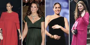 Meghan Markle, Kate Middleton, looks premamá, moda premamá, moda embarazadas, meghan Markle embarazada, Kate Middleton embarazada