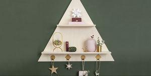 Estantería navidad, decoracion de navidad, paso a paso, hazlo tú misma, bricolage,