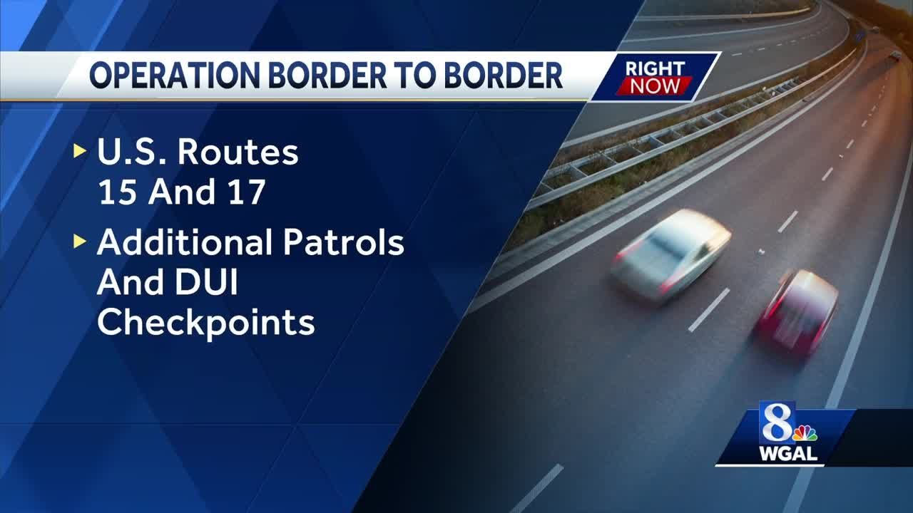 Expect checkpoints, increased patrols on this road