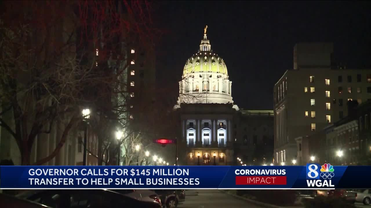 Pennsylvania governor urges General Assembly to allocate $145M in relief for small businesses