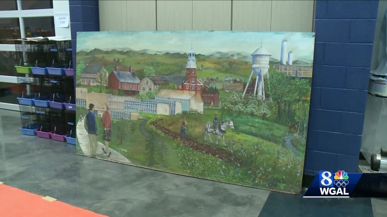 Long-lost mural recovered at Penn Manor High School