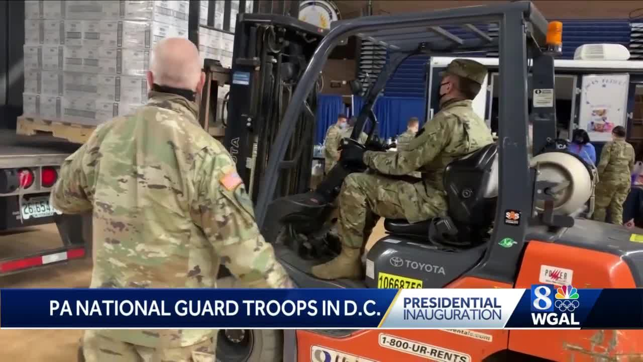 Pennsylvania National Guard members discuss mission in Washington, D.C.