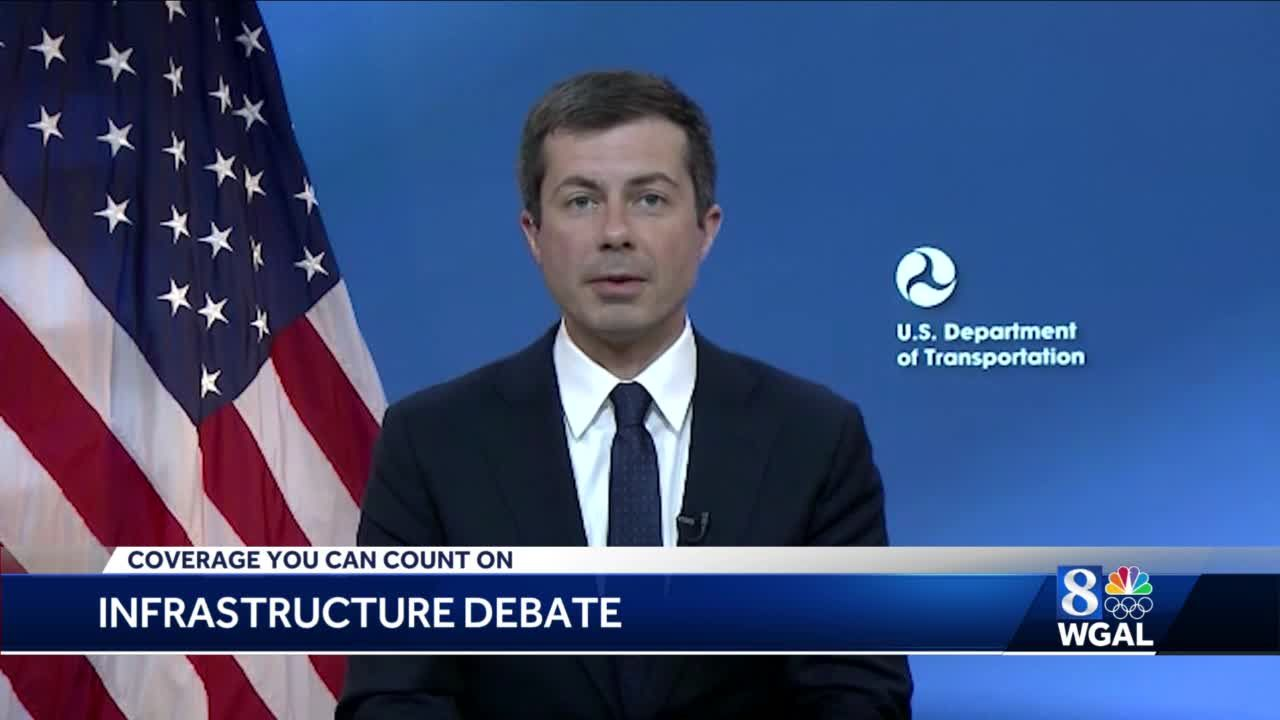 US Transportation Secretary Pete Buttigieg discusses bipartisan infrastructure plan