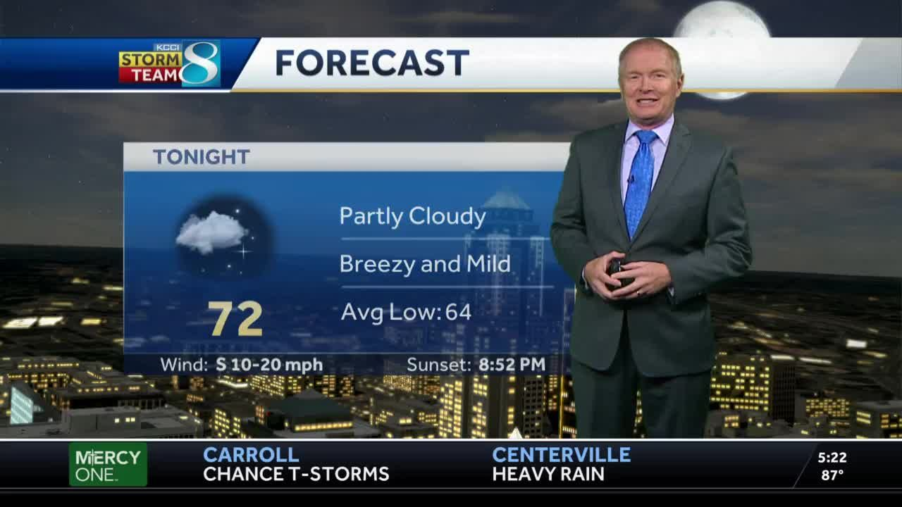 Partly cloudy, breezy Wednesday evening ahead