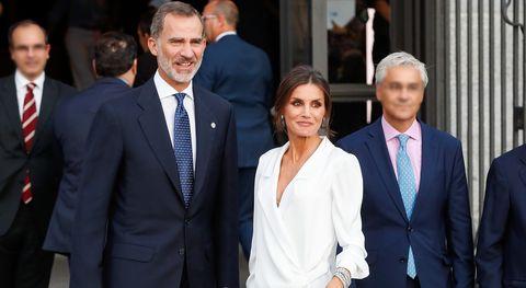 Reyes de España, reina Letizia, el vestido grande, Felipe VI, Doña Letizia