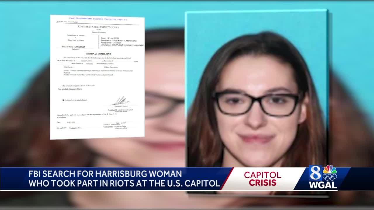 FBI seeks Harrisburg woman accused of taking part in US Capitol riot