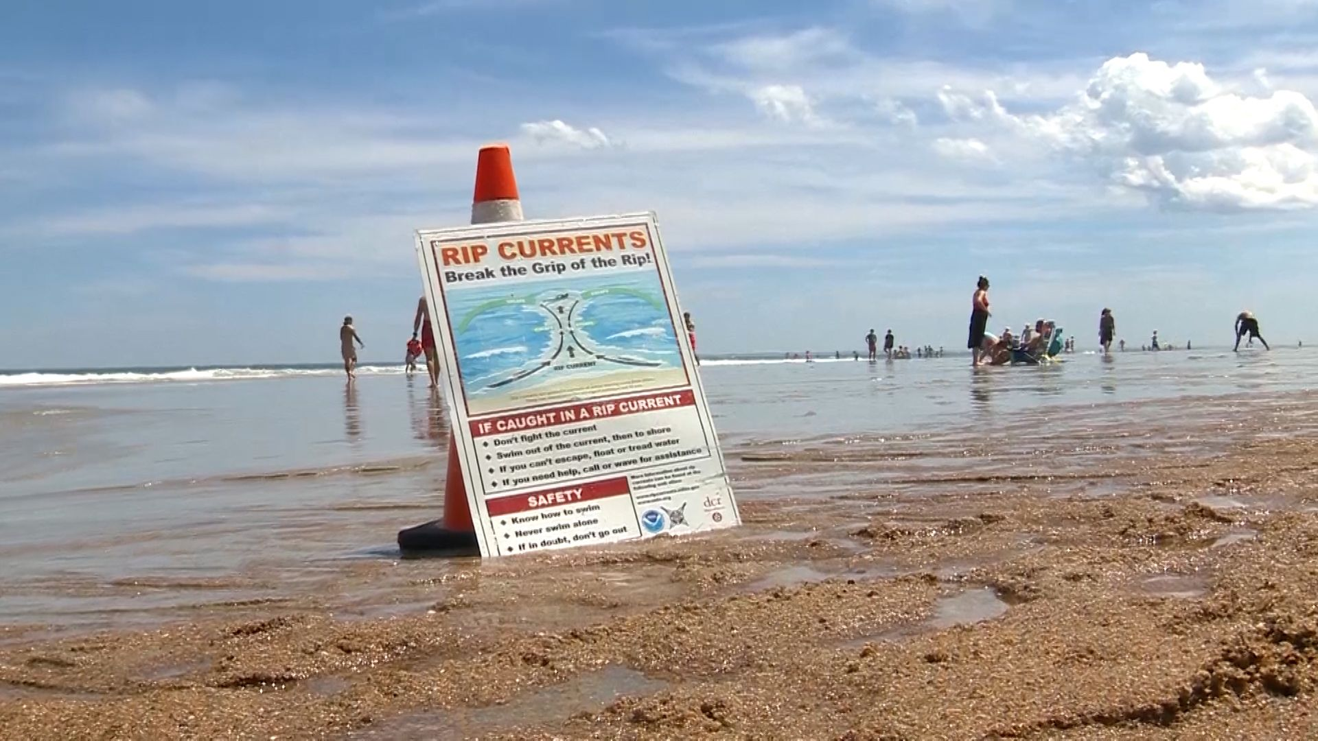 Rip currents sweep multiple people out to sea at Salisbury Beach