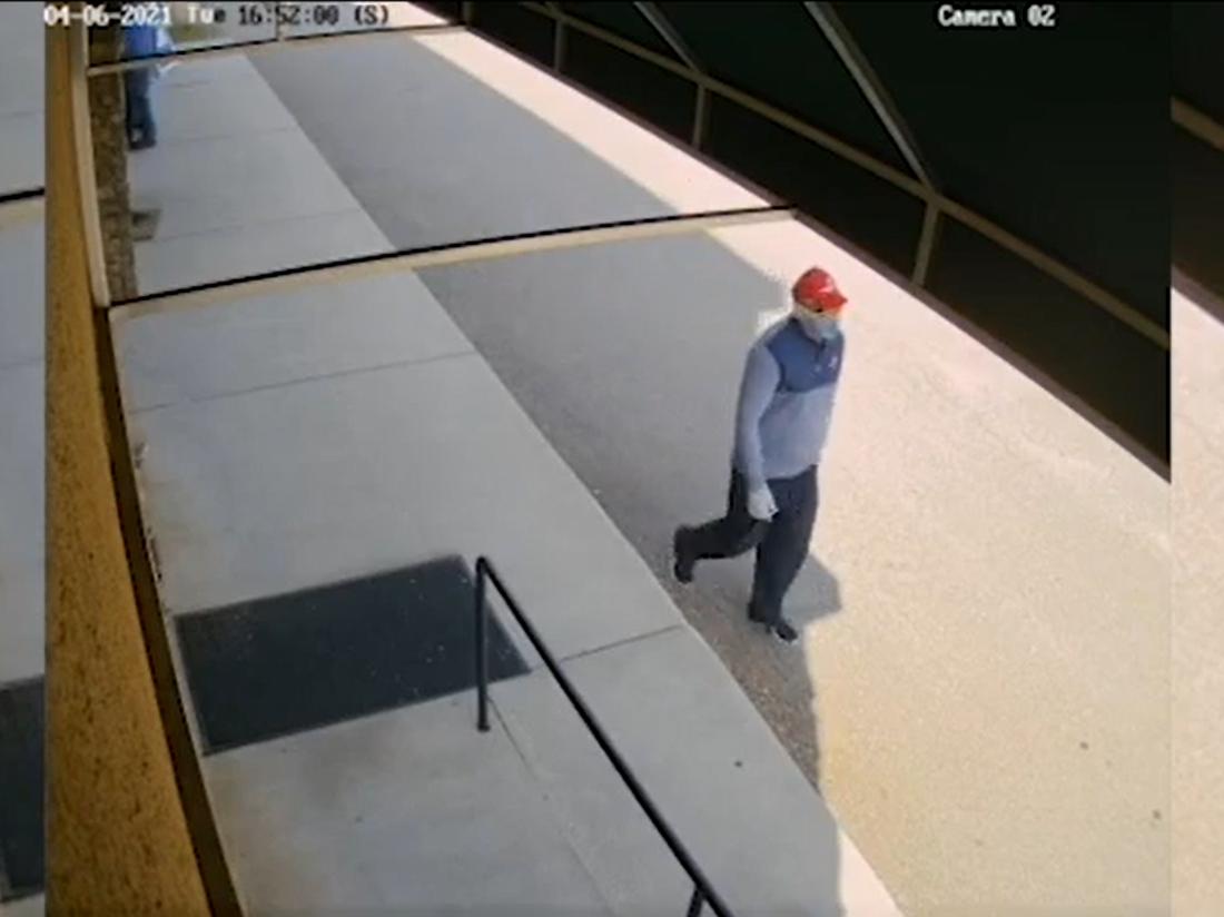 Georgia bank robbery suspect caught on camera