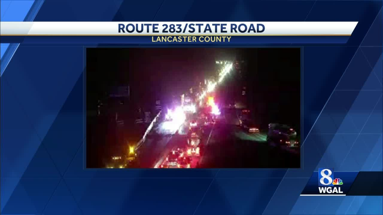 Multi-vehicle crash shuts down Route 283